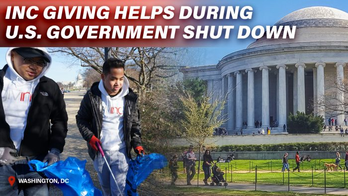 INC NEWS WORLD: 01/18/19 – INC Giving Helps During U.S. Government Shutdown