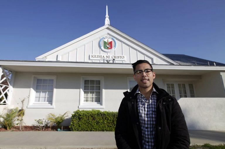Nan Zapanta standing outside in front of the Bakersfield house of worship.