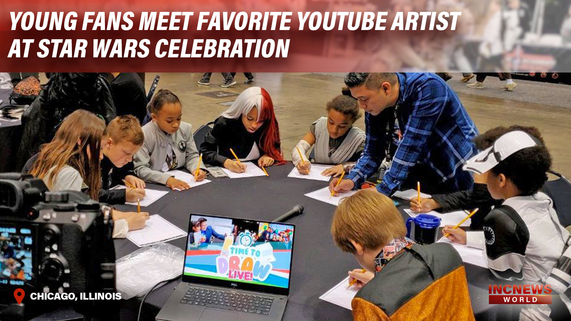 Young Fans Meet Favorite YouTube Artist at Star Wars Celebration